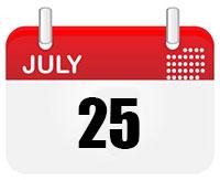 July 25 Calendar Page Photo