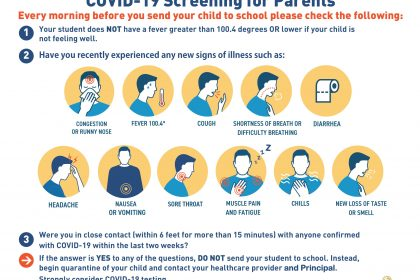 COVID-19 Parent Screening Guide