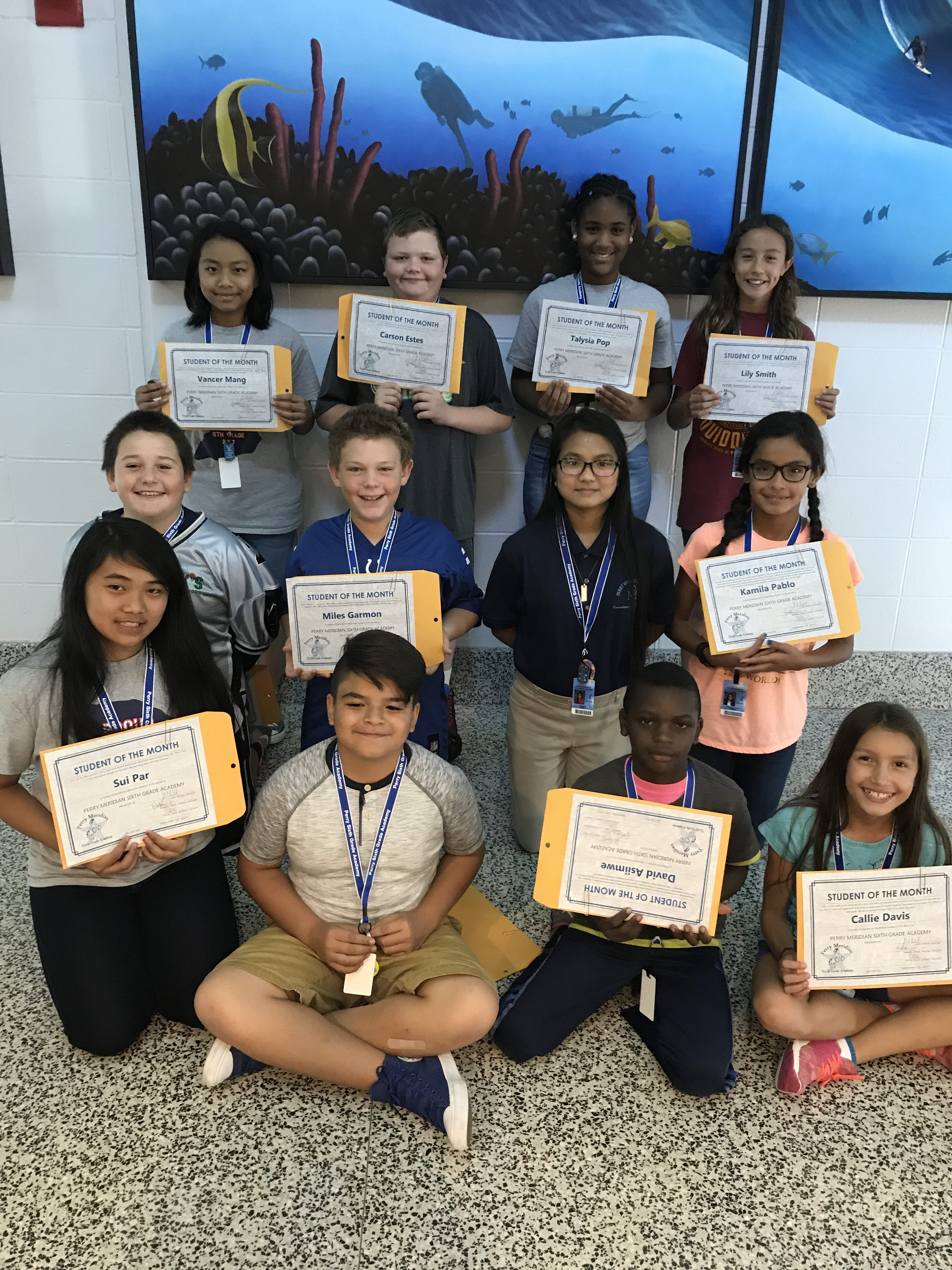 September Students of the Month | Perry Meridian 6th Grade ...