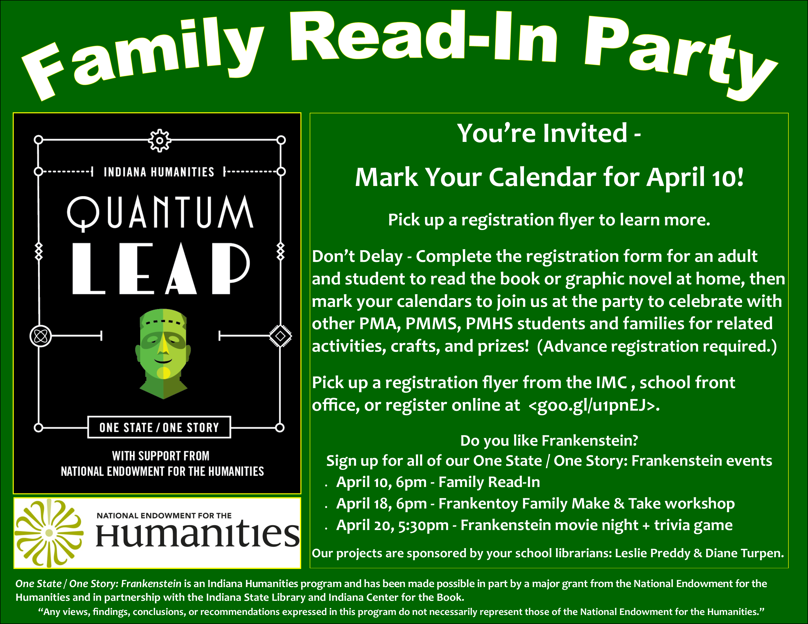 Family Read-In Party | Perry Meridian 6th Grade Academy