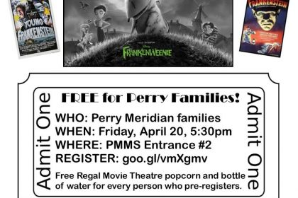 Frankenweenie Family Move & Game Night | Perry Meridian 6th Grade