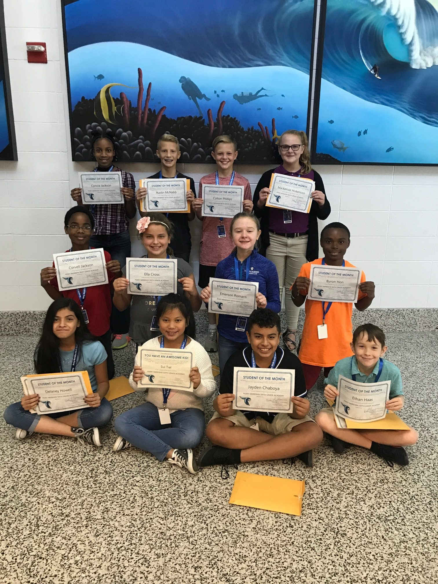 August Students of the Month! | Perry Meridian 6th Grade ...