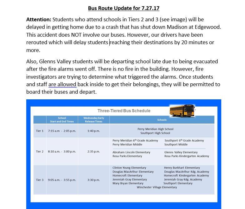 Thursday PM bus update – crash & fire alarm delaying