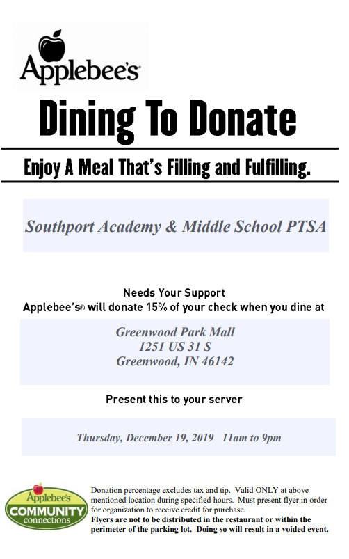 Applebee S Dine To Donate Southport 6th Grade Academy
