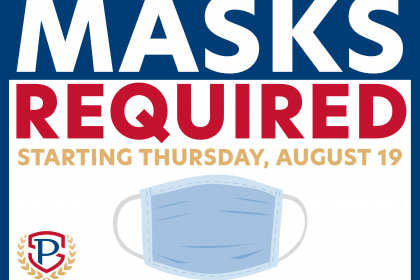 Masks Required Starting Thursday, August 19