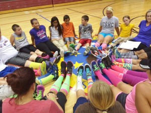 """Silly Sock Day"" for Running Club at ALE"
