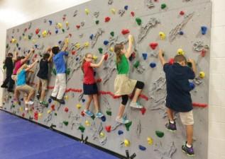 New Rock Wall at GV!