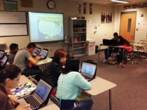 Map Competition at PMHS using Chromebooks