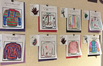"""Ugly Sweater"" Coloring Contest at JGE"