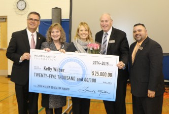 Kelly Wilber Receives Milken Educator Award!