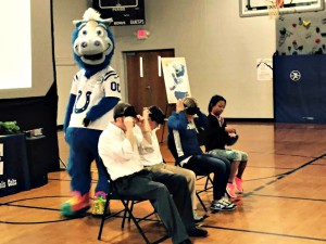 Blue Visits GV with Nutrition Message
