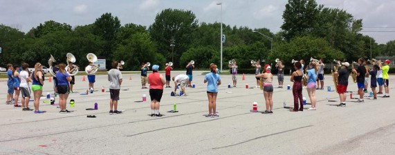 PMHS Marching Falcon Band Practice