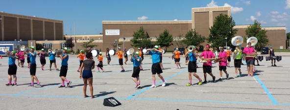 Spirit day at the PMHS Band Camp