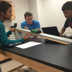 AP Physics C Students perform Galileo's Incline Plane Experiment