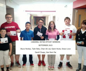 SMS Students of the Month