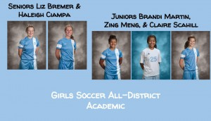 Girls Soccer Academic All-District (2)