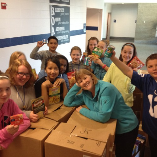 Perry Meridian 6th Grade Collects Nearly 3-Thousand Food Items