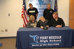 PMHS Child Development -PMHS MGarrity signs with Purdue BB 11-12 019