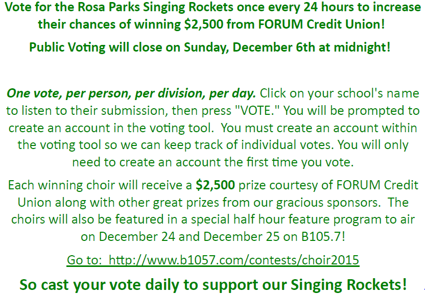 RPE Christmas Choir Voting 2