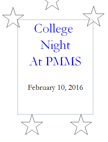 pmms college night 2 - 10 - 16