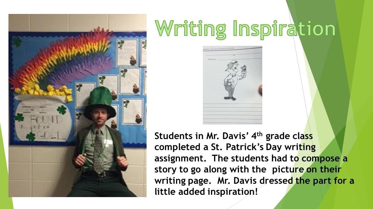 Mr Davis St Patricks Day Writing