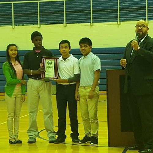 NCAA Awards PMMS Volunteer Service Award!!!