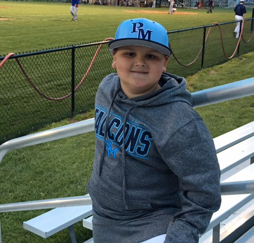 GV 3rd Grade Student Hustles in the Dugout to Help Out Falcons