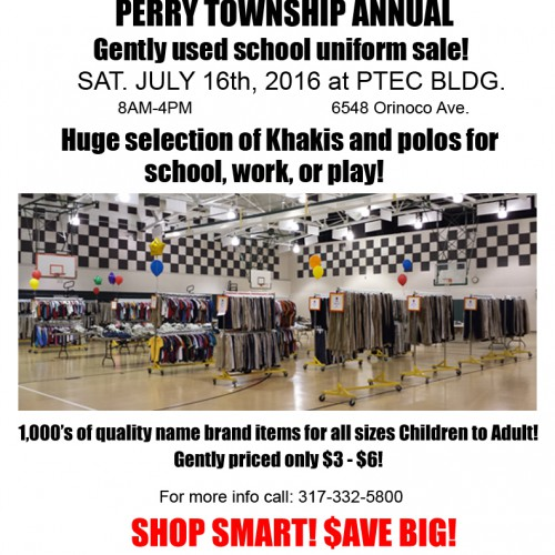 Don't Forget the School Uniform Sale in July