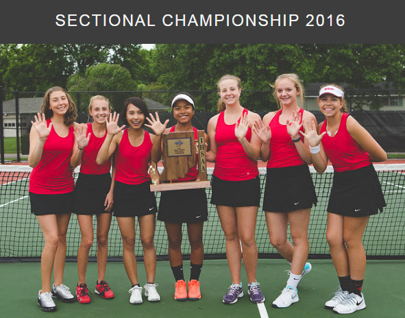 shs girls tennis sectional champs