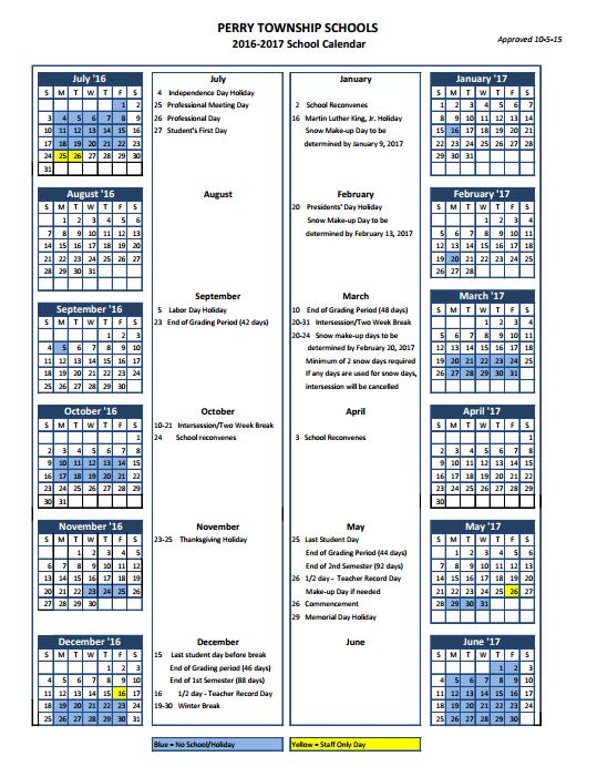 English Calendar 2016-2016