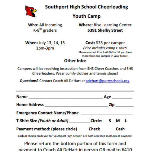 SHS Cheerleading Youth Camp