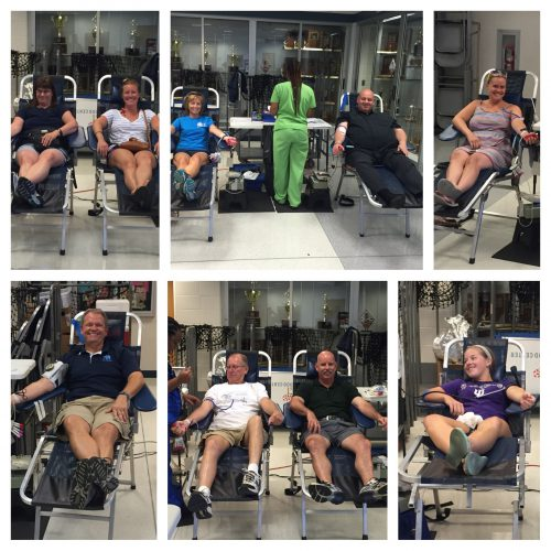 Perry Meridian Football Blood Drive