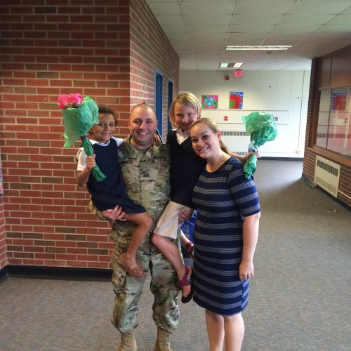 Soldier Surprises His Children at Glenns Valley