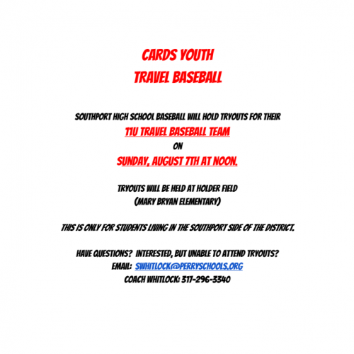SHS Travel baseball try outs