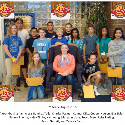 PMMS Students of the Month