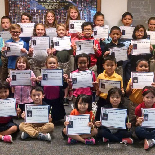 Douglas MacArthur Students of the Month