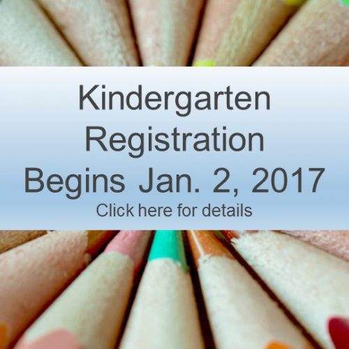 Kindergarten Registration Begins Jan. 2