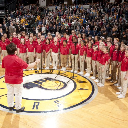 Spotlight Singers Perform at Pacers Game