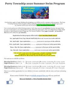 Summer Swim Flyer