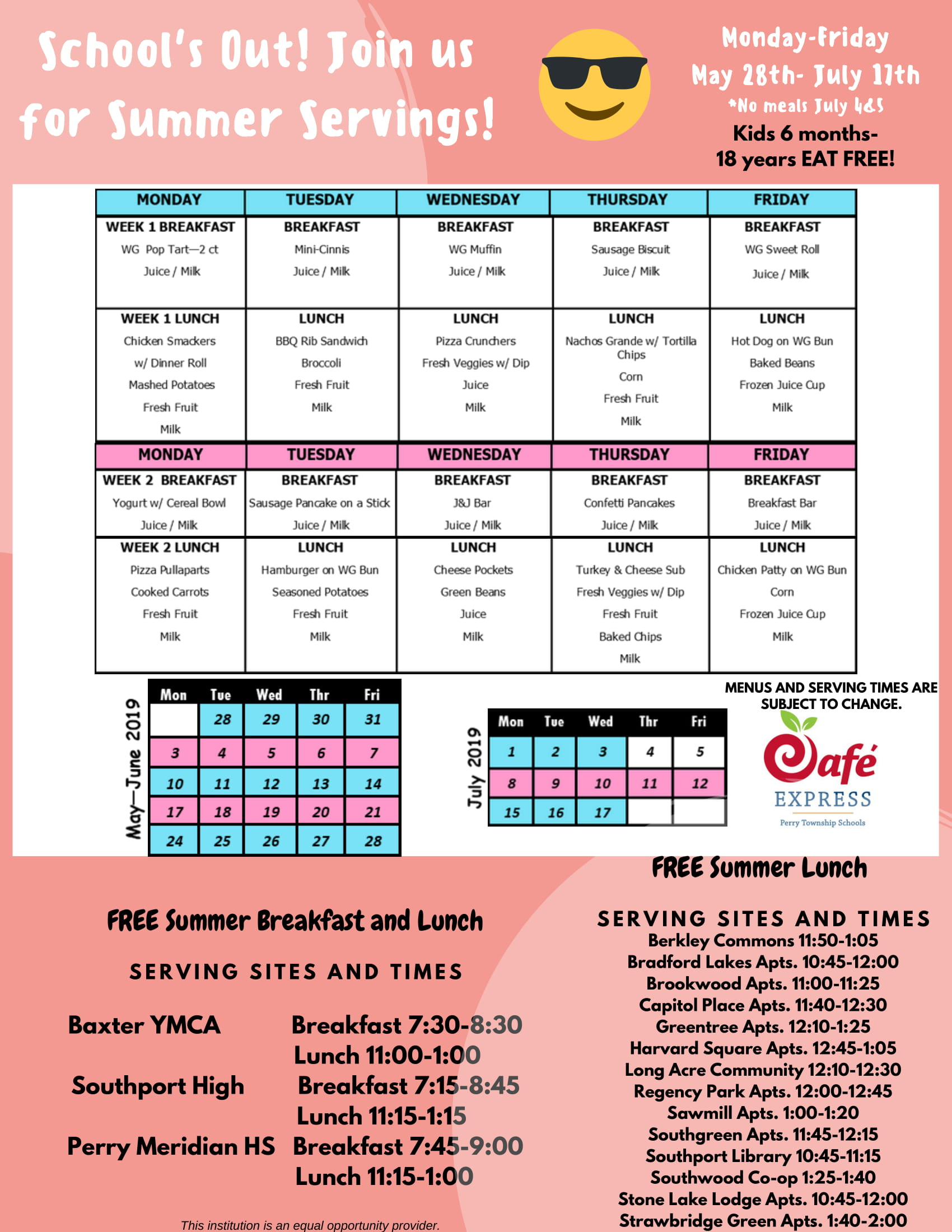 Summer Servings 2019 | Perry Township