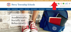 Front page of perrytownshipschools website