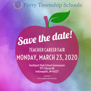 Save the date flyer: Career Fair Monday March 23, 2020