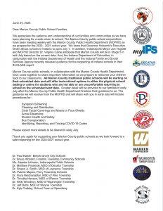 June 24 Marion County Letter