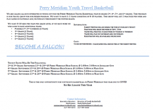 Perry Meridian Youth Basketball Information